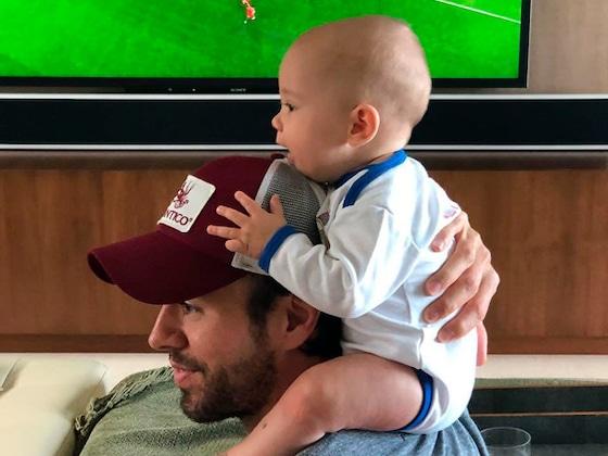 Les jumeaux d'Enrique Iglesias et Anna Kournikova soutiennent des équipes différentes pour la coupe du monde