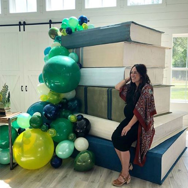 Joanna Gaines -  The  Fixer Upper  star shared  a shot  at her book themed baby shower for baby #5.