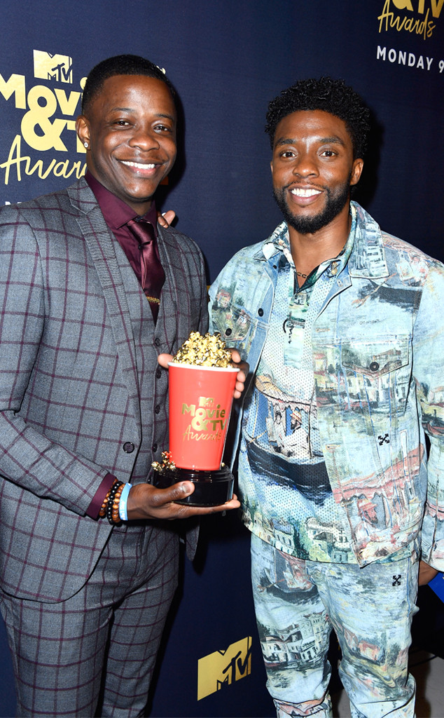 James Shaw Jr., Chadwick Boseman, 2018 MTV Movie & TV Awards