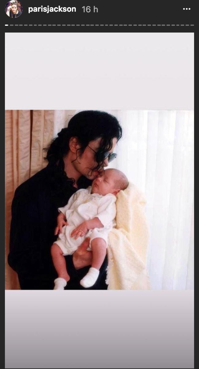 Paris Jackson, Michael Jackson, Dia del Padre