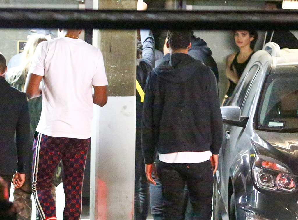 Khloe Kardashian, Tristan Thompson, Kendall Jenner, Ben Simmons