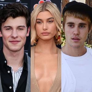 Shawn Mendes, Hailey Baldwin, Justin Bieber