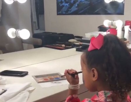 Busted! Kim Kardashian Catches North West Using Her Makeup