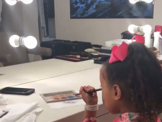 Busted! Watch Kim Kardashian Catch North West Using Her Makeup