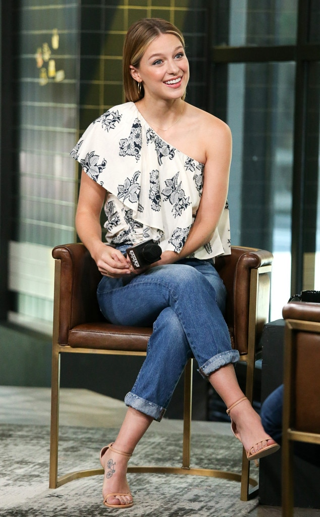 Melissa Benoist -  The  Supergirl  actress drops in to visit the Build Series in New York.