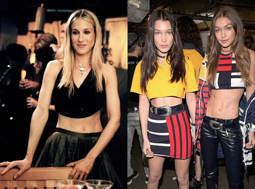 Sex and the City fashion trends, crop tops