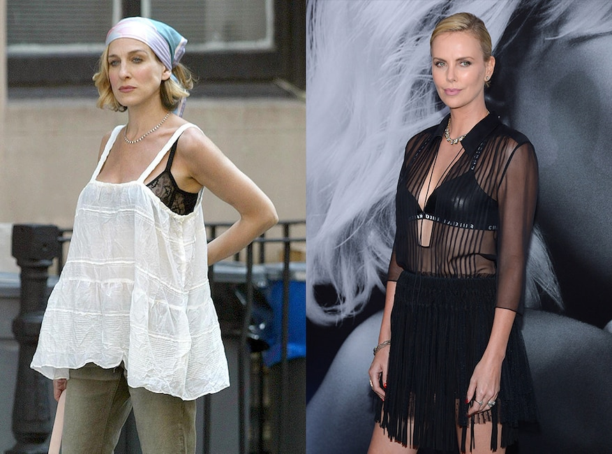 Sex and the City fashion trends, sheer tops