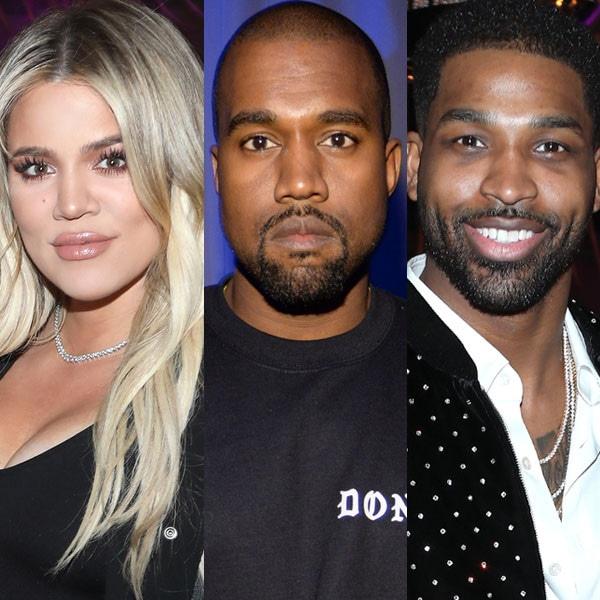 Khloe Kardashian, Kanye West, Tristan Thompson
