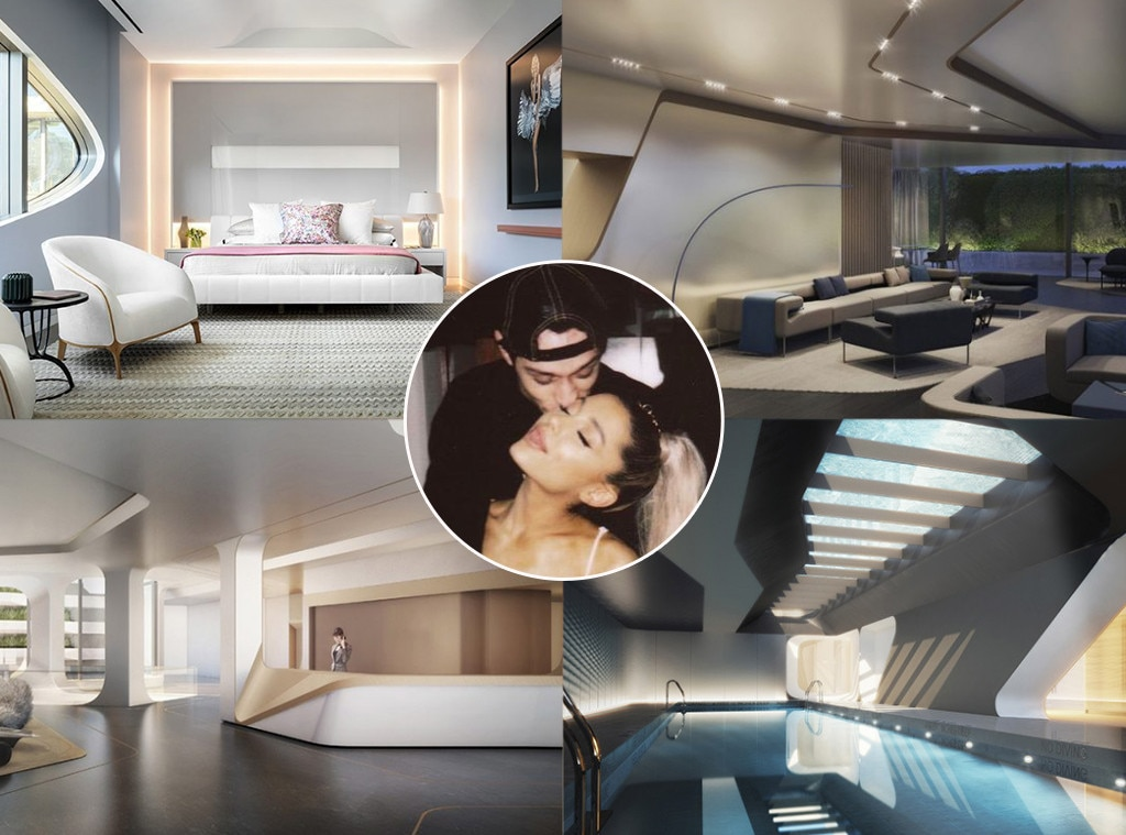 Ariana Grande -  Soon after splitting from rapper  Mac Miller , the pop star got engaged to  Pete Davidson  and moved into a $16 million apartment in New York City together. Upgrade!