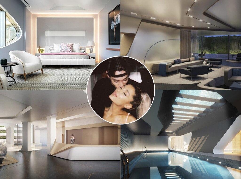 Nyc apartment furniture Micro Ariana Grande Pete Davidson E News Go Inside Ariana Grande And Pete Davidsons 16 Million New York