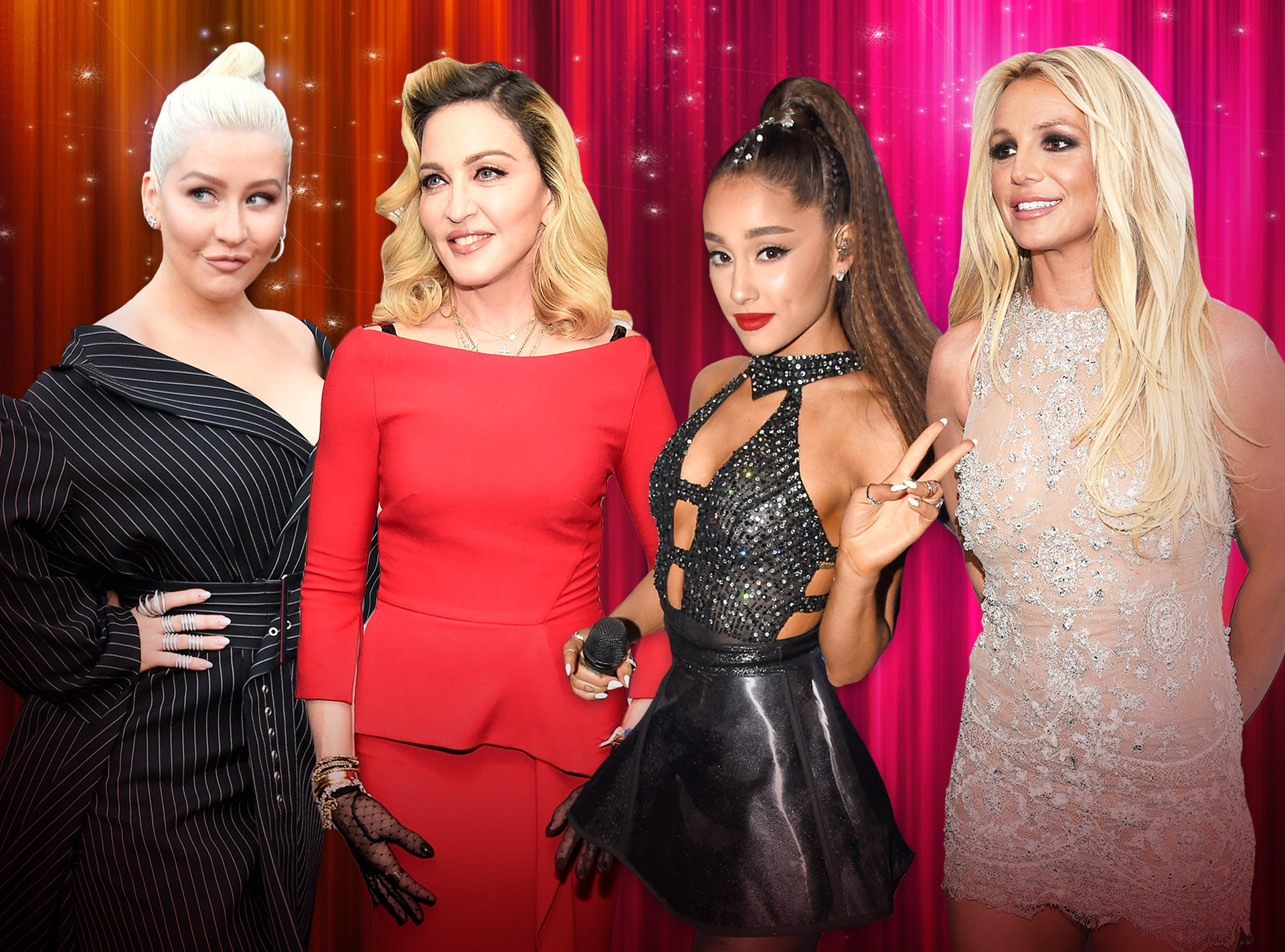 Pop Divas Poll, Christina Aguilera, Madonna, Ariana Grande, Britney Spears