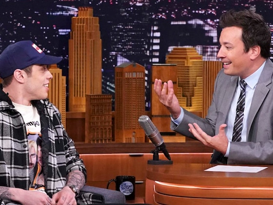 Watch Pete Davidson Blush as He Discusses Engagement to Ariana Grande on <i>The Tonight Show</i>