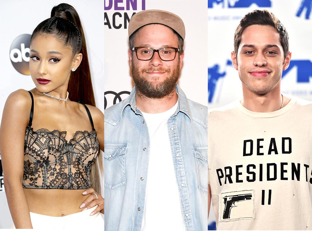 Ariana Grande, Seth Rogen, Pete Davidson