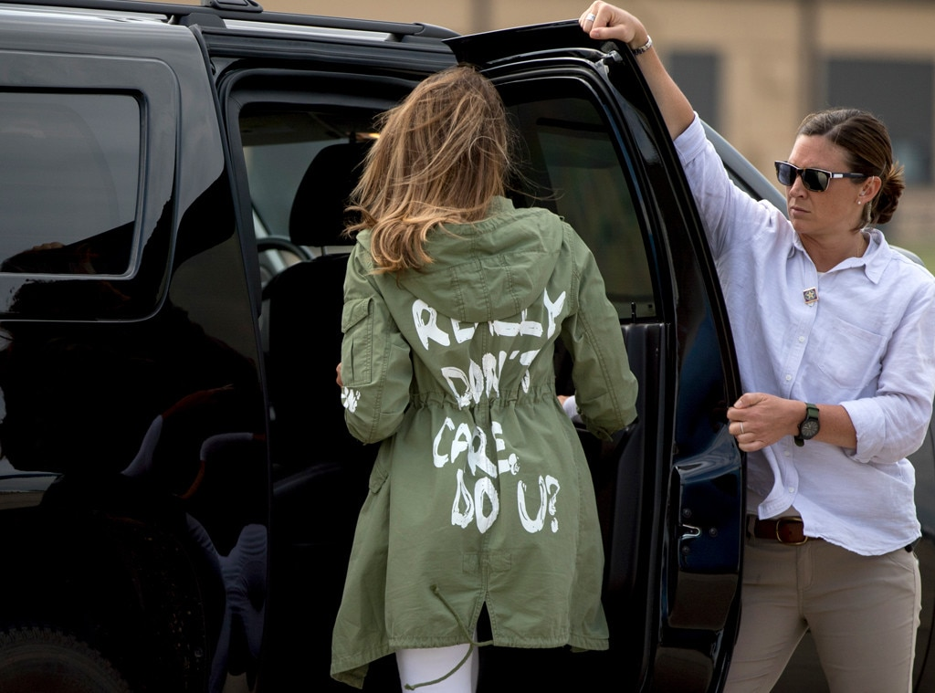 Melania Trump's 'I don't care' jacket causes stir on border visit