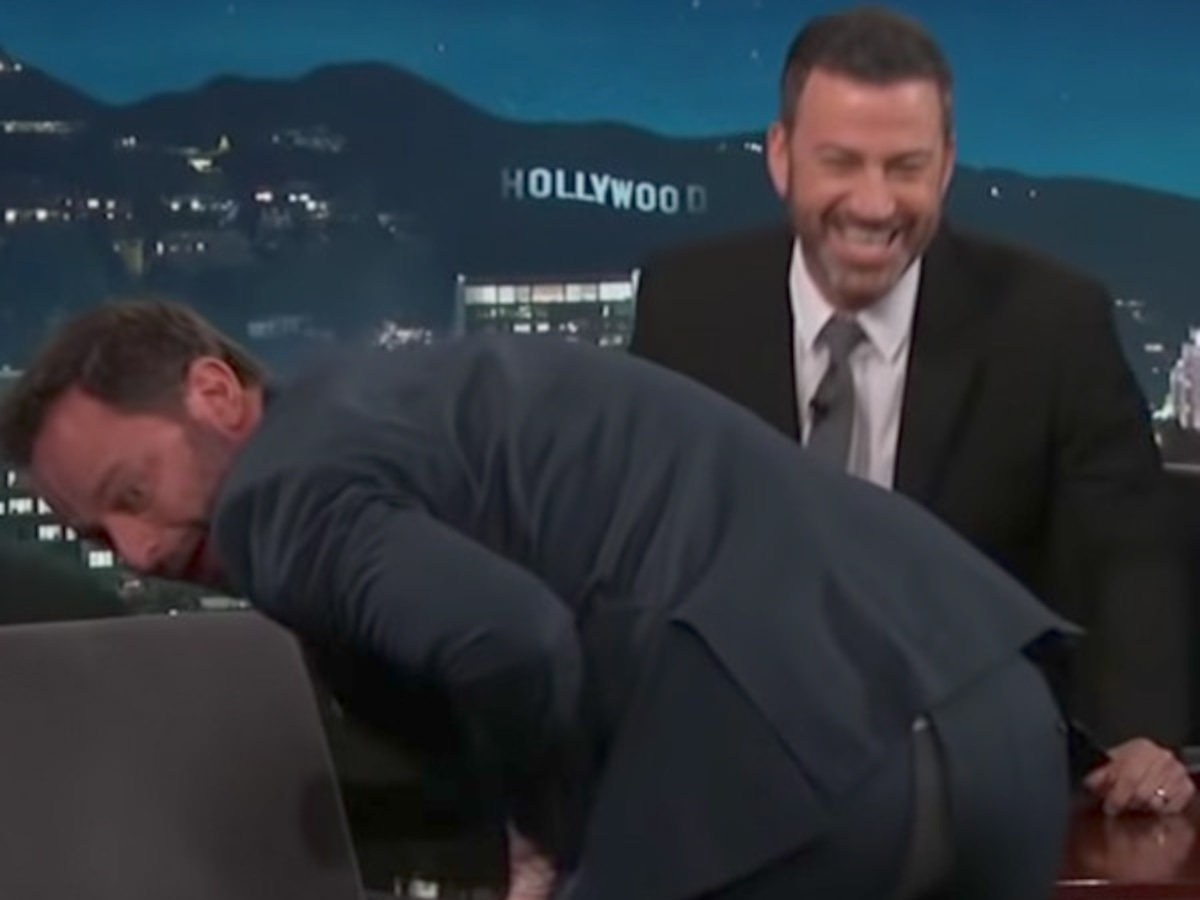 Nick Kroll Splits His Pants in the Middle of His Jimmy Kimmel Interview