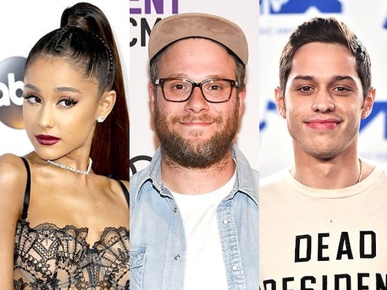 Seth Rogen Is Seriously Tired of Ariana Grande and Pete Davidson's Instagram Flirting