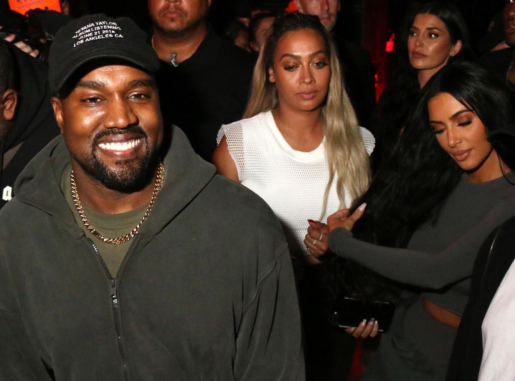 Kim Kardashian, La La Anthony, Kanye West