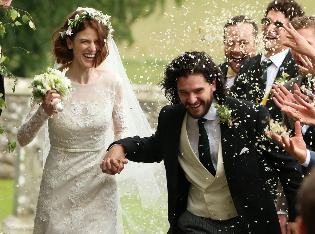 Rose Leslie, Kit Harrington, Wedding