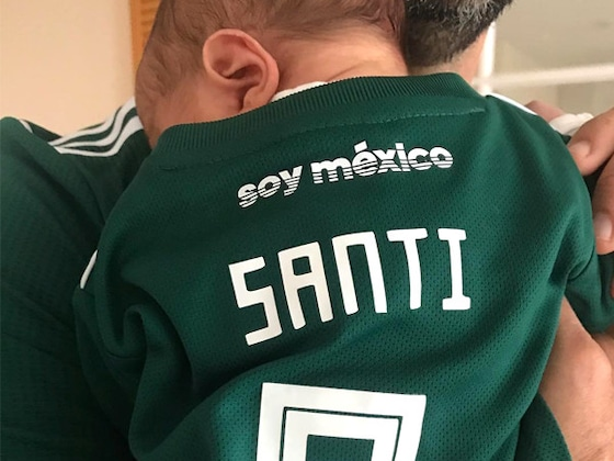 Eva Longoria's Newborn Son Santiago Cheers on Team Mexico During World Cup