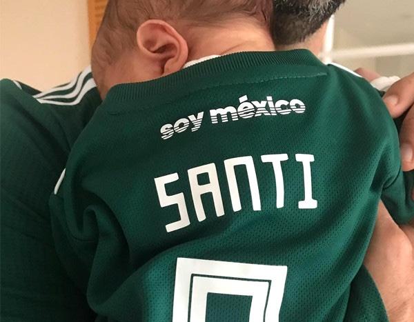 d0e5e69bb Eva Longoria's Newborn Son Santiago Cheers on Team Mexico During World Cup  | E! News
