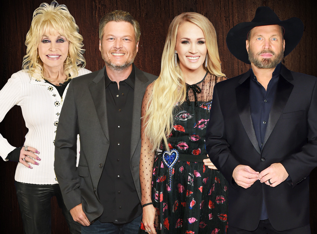 Best Country Music Singer Poll, Dolly Parton, Blake Shelton, Carrie Underwood, Garth Brooks