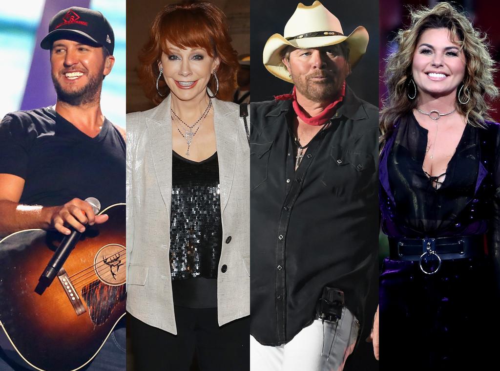 Best Country Music Singer Poll, Luke Bryan, Reba McIntire, Toby Keith, Shania Twain