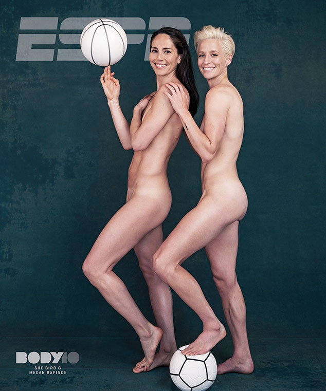 Sue Bird, Megan Rapinoe, ESPN, Body Issue, 2018, Cover