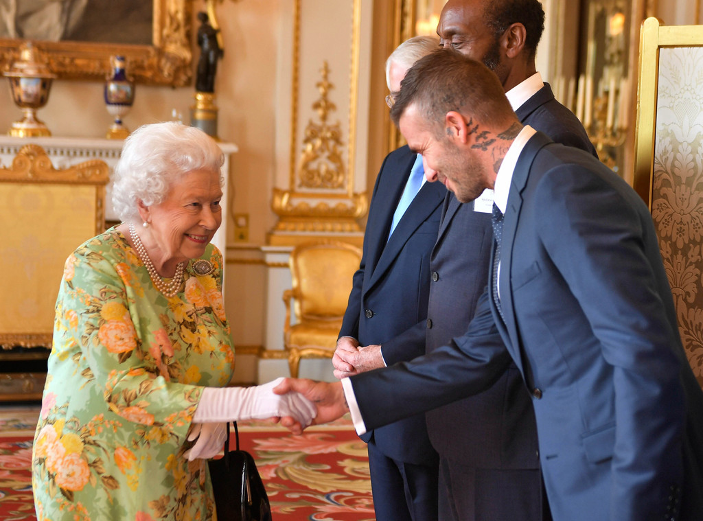 Queen Elizabeth II, David Beckham