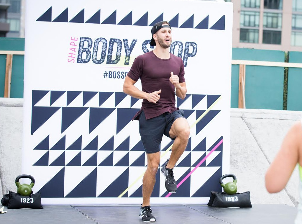 Shawn Booth - The Bachelorette  star and fitness instructor works out at the  SHAPE  Body Shop event at the Hudson Loft in Los Angeles.