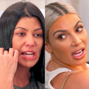 KUWTK, Kim Kardashian, Kourtney Kardashian