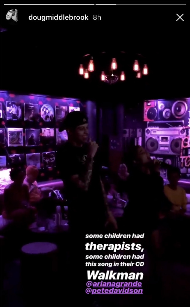 Pete Davidson, Ariana Grande, Karaoke, Birthday Party