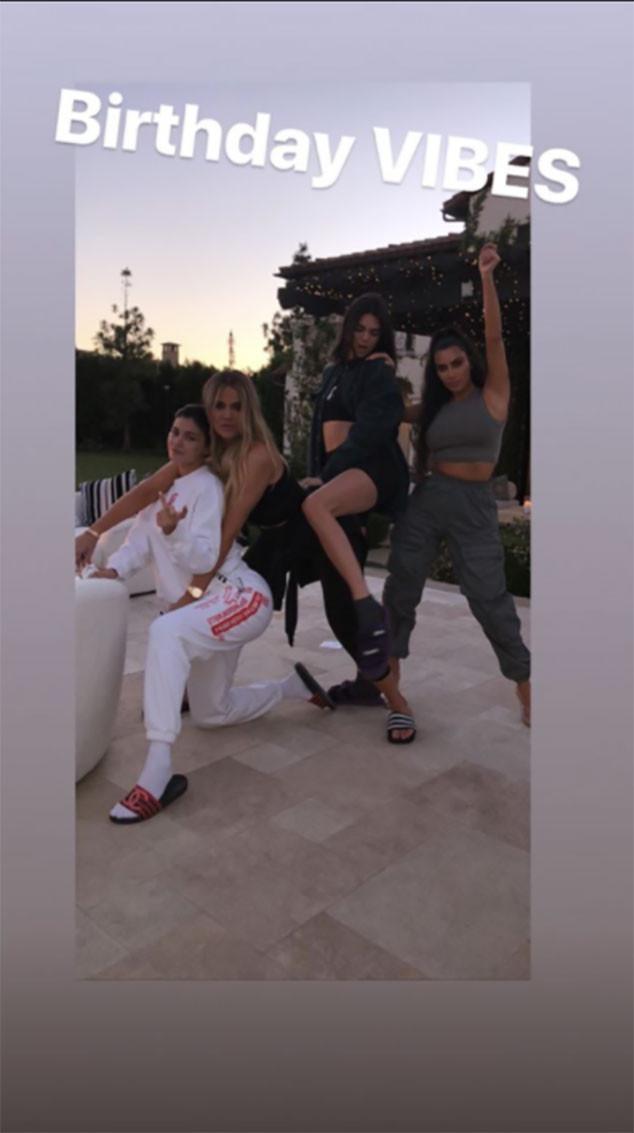 Khloe Kardashian, Kim Kardashian, Kendall Jenner, Kylie Jenner, True Thompson