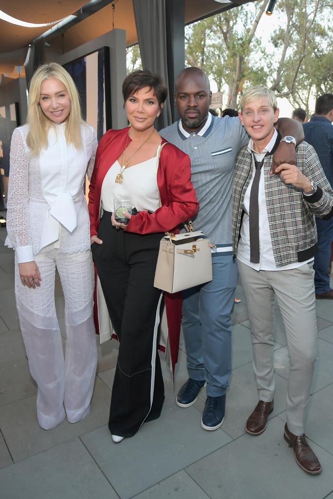Portia de Rossi, Kris Jenner, Corey Gamble, Ellen DeGeneres