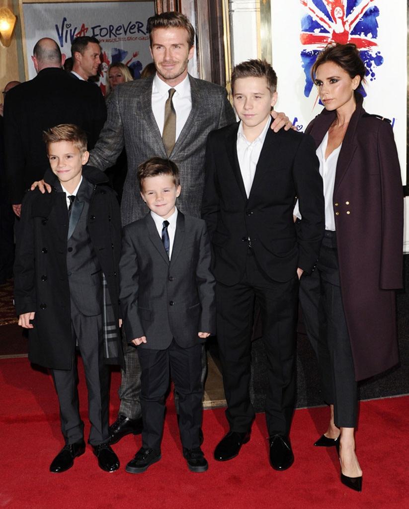 David Beckham, Victoria Beckham, Brooklyn, Romeo, Cruz
