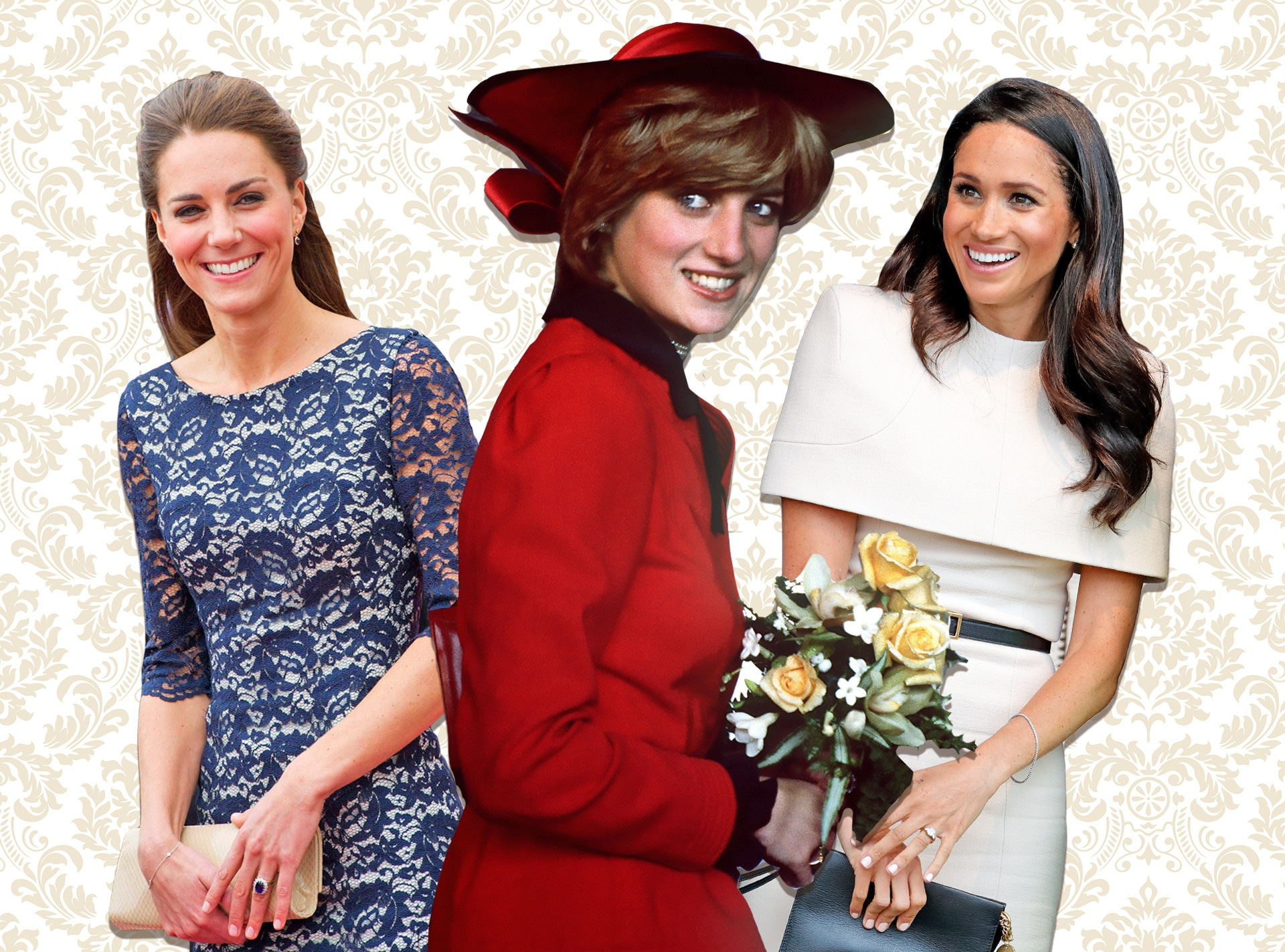 Kate Middleton, Princess Diana, Meghan Markle