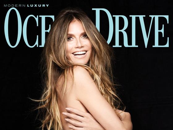 Heidi Klum pose seins nus pour <i>Ocean Drive</i> : &quot;On n'a qu'une vie&quot;