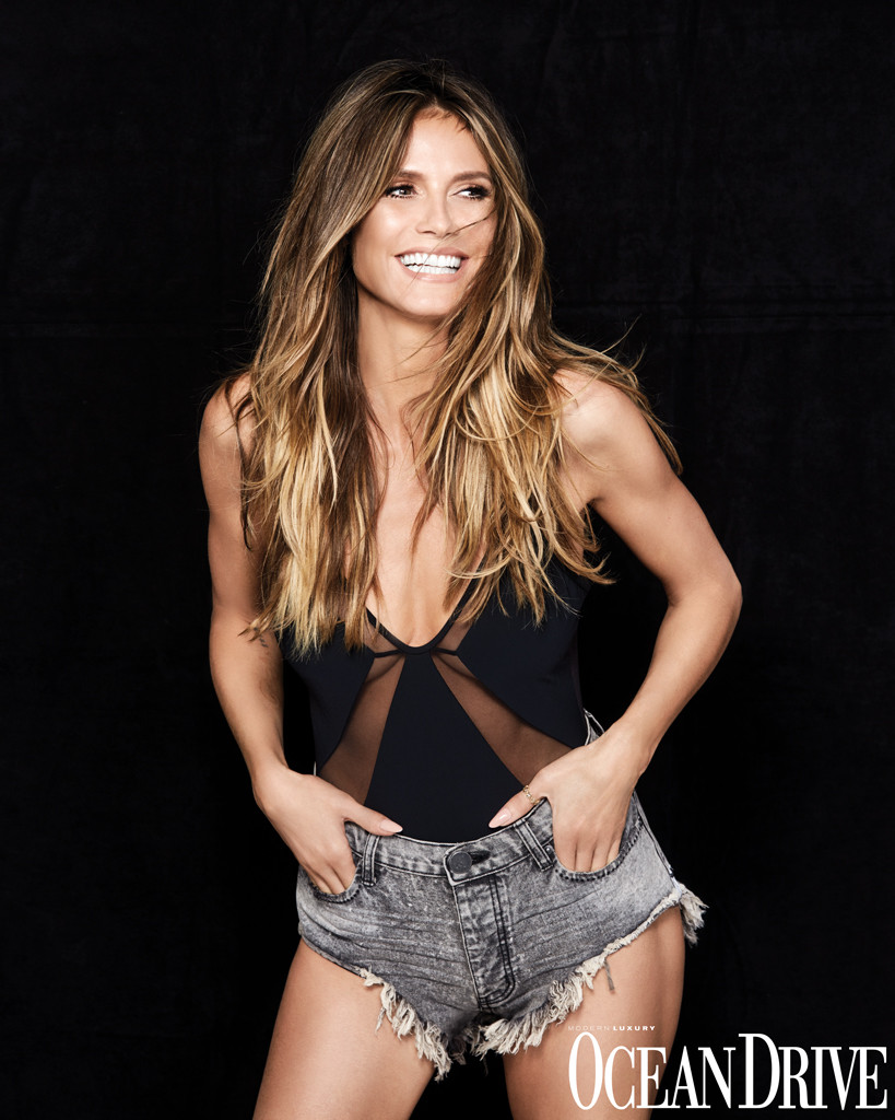 98a3831256 Heidi Klum Poses Topless for Ocean Drive: We Only Have One Life | E ...