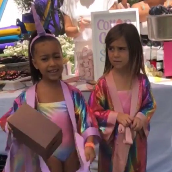 Kim Kardashian throws North West, Penelope Disick joint unicorn birthday party