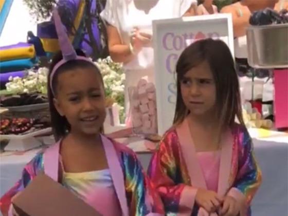 Une fête sur le thème des licornes pour les anniversaires de North West et Penelope Disick
