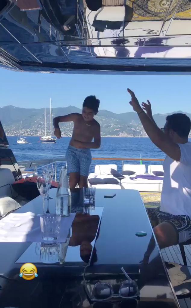 Kourtney Kardashian, Mason Disick, Simon Huck, Italy