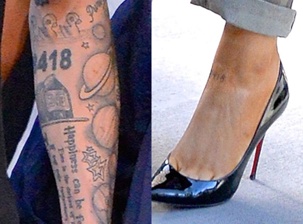 Ariana Grande, Pete Davidson, tattoos