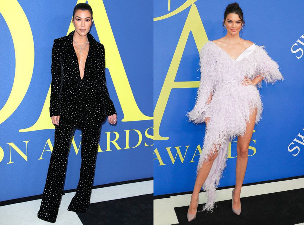Kourtney Kardashian, Kendall Jenner, CFDA 2018