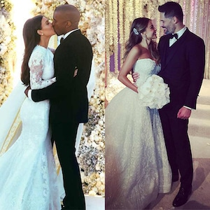 Kim Kardashian, Kanye West, Sofia Vergara, Joe Manganiello, Wedding