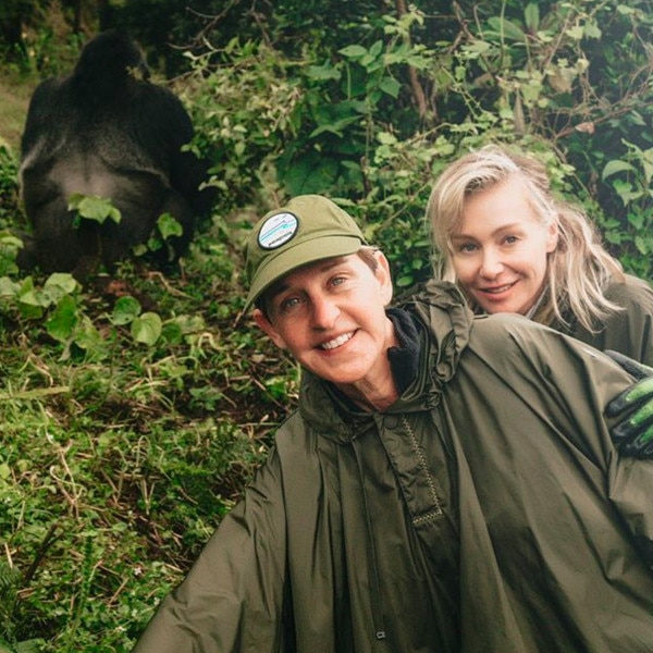 Gorilla Games -  The couple made sure to smile for the cameras while on their Rwanda adventure in 2018.