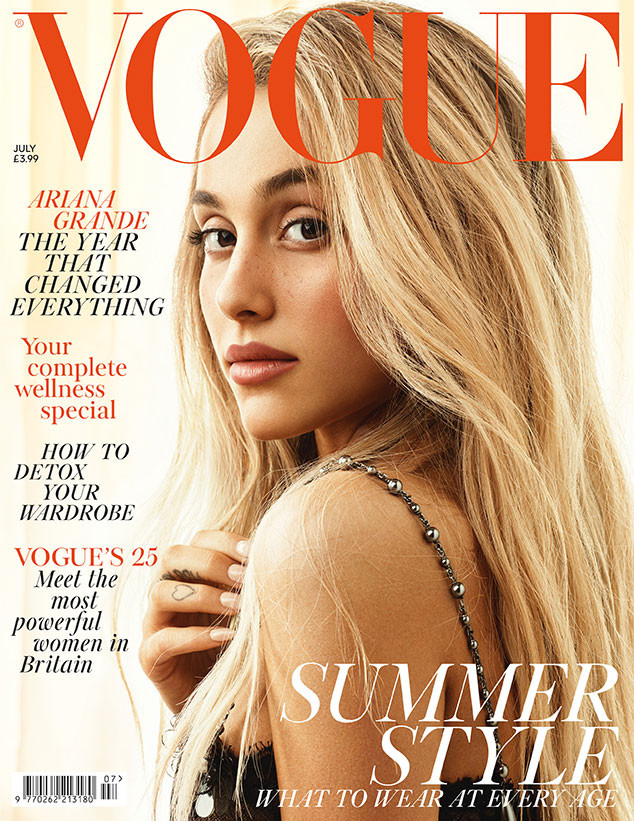 Ariana Grande, British Vogue, Vogue UK, July 2018