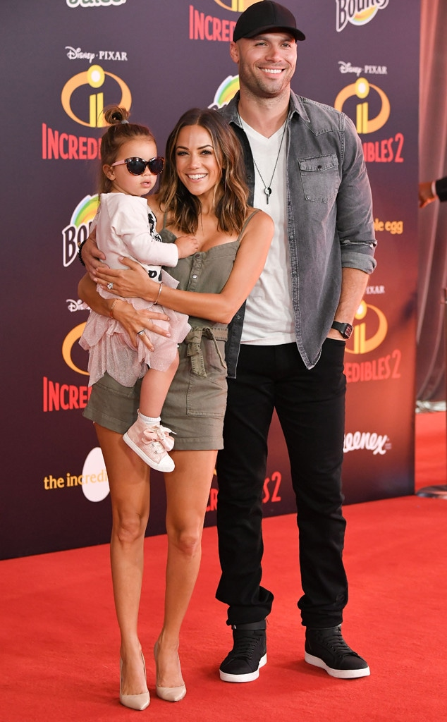 Jolie Rae Caussin, Jana Kramer, Mike Caussin, Incredibles 2 Premiere