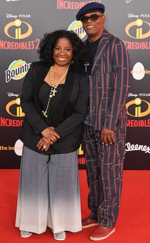 LaTanya Richardson, Samuel L. Jackson, Incredibles 2 Premiere