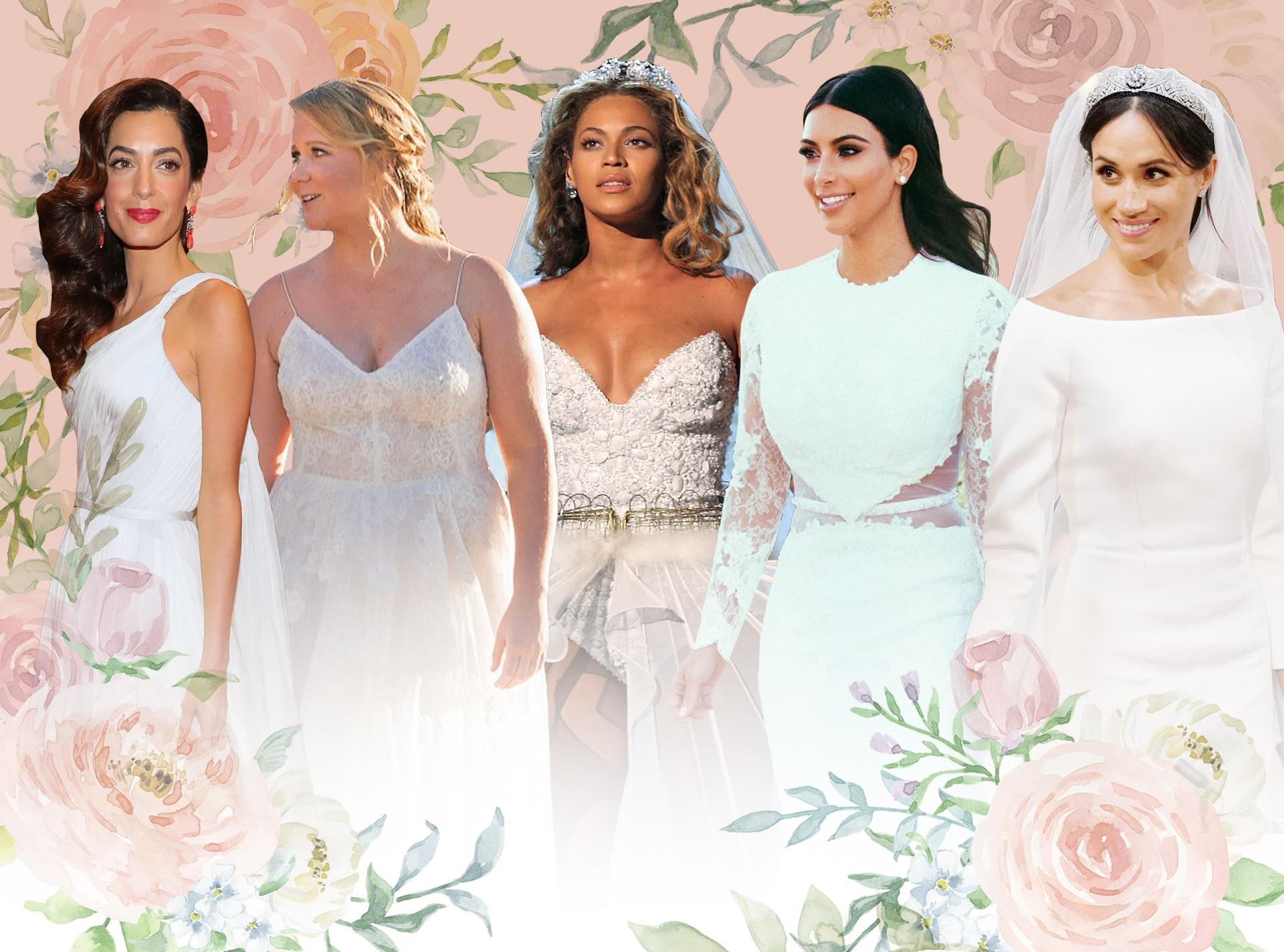 Bridal Quiz, Amal Clooney, Amy Schumer, Beyonce, Kim Kardashian, Meghan Markle