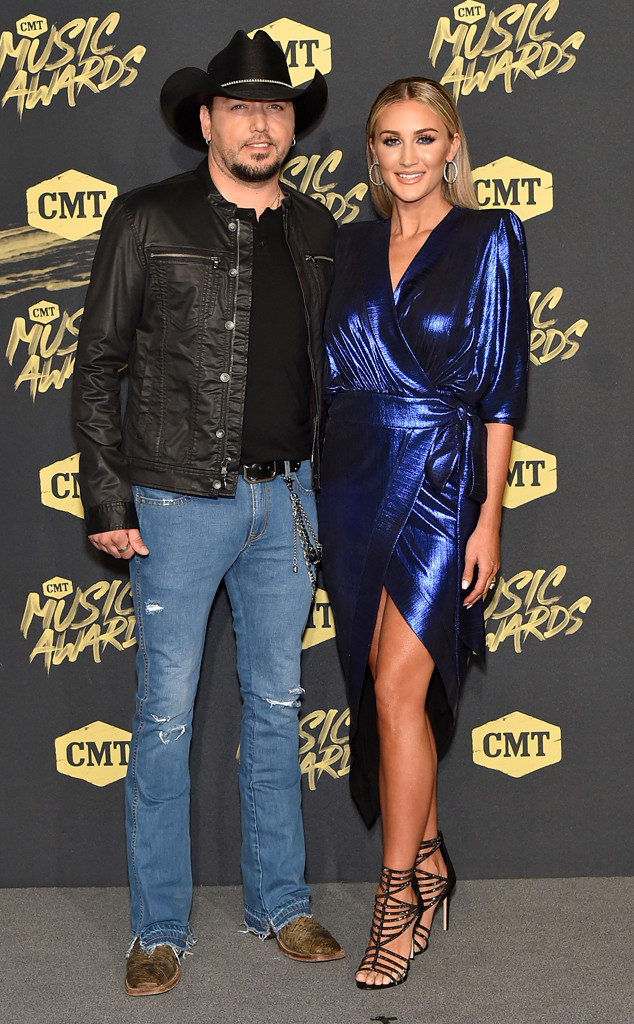 Jason Aldean, Brittany Kerr, 2018 CMT Music Awards, Arrivals, Couples
