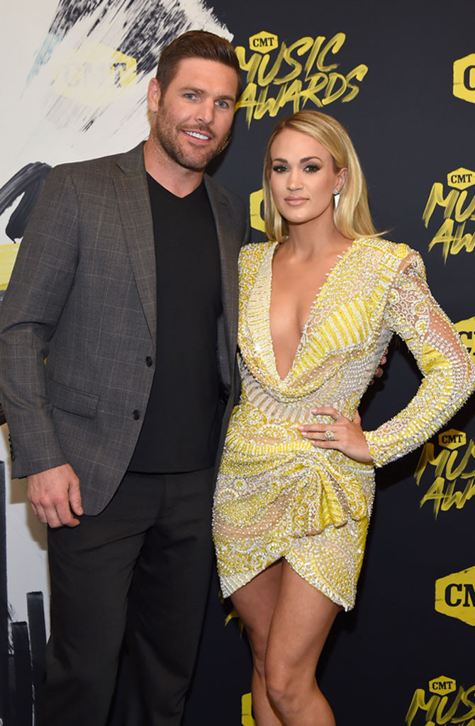 Mike Fisher, Carrie Underwood, 2018 CMT Music Awards